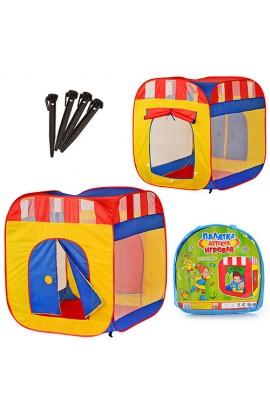 Палатка M 0505 куб, 2 входи, 2 вікна, сітка, сумка, 94-94-108 см.
