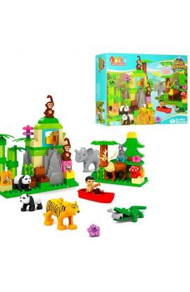 Конструктор JDLT 5285 зоопарк, фігурки тварин, 106 дет., муз., бат., кор., 60-45-12,5 см.