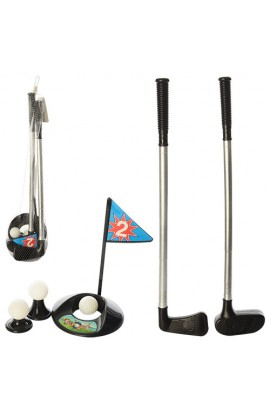 Гольф M 3501 ключка 2 шт., м'яч 2 шт., лунка, сітка, 52-9-12 см.