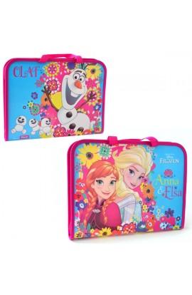 """Папка-портфель на молнии с тканевыми ручками  """"Frozen """""""