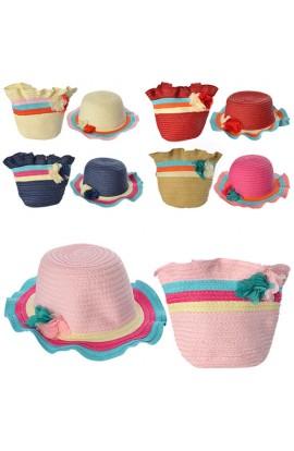 Сумочка 1867-68 пляжна з капелюхом, короткі ручки, застібка-блискавка, 5 кольорів, кул., 21-18-2 см.