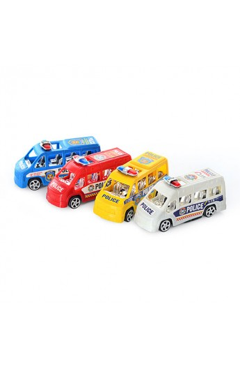 Машинка 858 поліція, 4 кольори, кул., 10,5-5-4 см