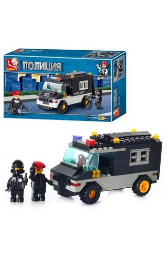 Конструктор SLUBAN M 38 B 1600 Військова поліція, машинка, фігурки, кор., 20-13-5 см