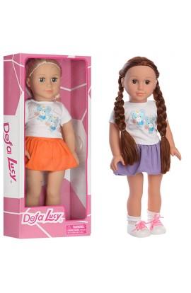 Лялька DEFA 5510 м'яконабивна, 2 види, кор., 48-20-10,5 см.