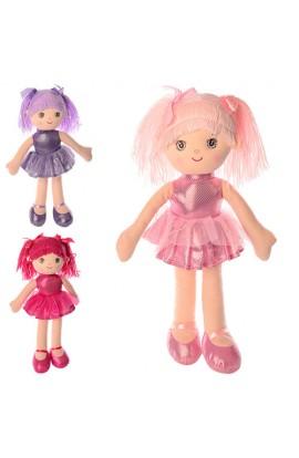 Лялька X11306 м'яконабивна, 3 кольори, кул., 14-41-7 см.