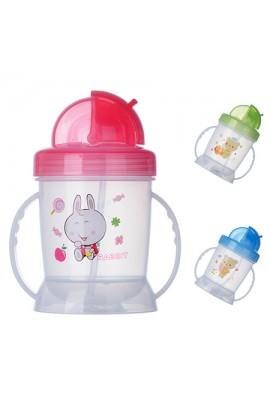 Чашка-поїлка пластик дитяча з ручками 180мл, J00092