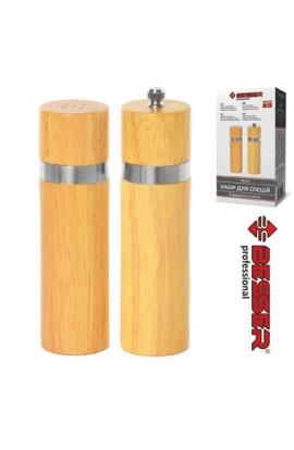 Набір дерев'яний для спецій 2шт/наборі, 2046/ 10121