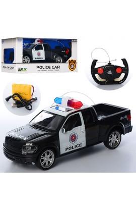 Машина 3699-Q9 радіокер., акум., поліція, гумові колеса, USB зарядне, муз., світло, кор., 38,5-15-17