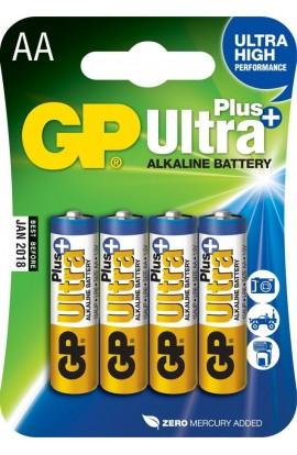 Батарейка GP ULTRA + ALKALINE 1.5V 15AUPHM-2UE4 (лужна, LR6, AA)