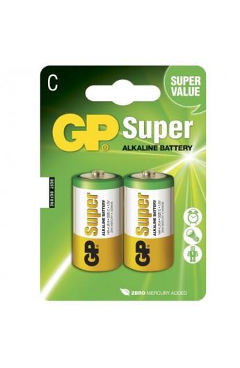 Батарейка GP SUPER ALKALINE 1.5V 14A-U2, LR14,C