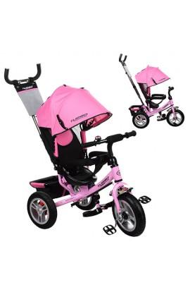 Велосипед M 3113A-10 3 гум. кол., колясочний, вільний хід колеса, гальмо, підшипники, ніжно-рожевий.