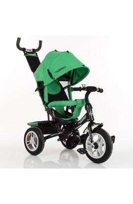 Велосипед M 3113A-N4 3 гум. кол., колясочний, вільний хід колеса, гальмо, підшипники, зелений.