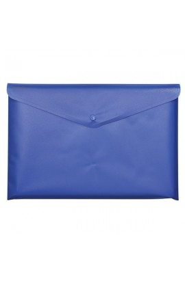 Папка-конверт А4 на кнопці JOBMAX, синій