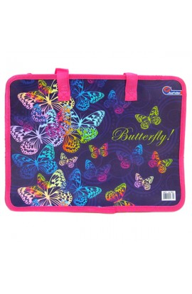 "S1705 Сумка с ручками  ""Butterfly "", фиолет., 26х32 см"