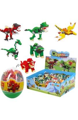 Конструктор 6801-6806 динозавр, яйце, 134 дет., 12 шт. (6 видів) в диспл., 36,5-29-15 см.
