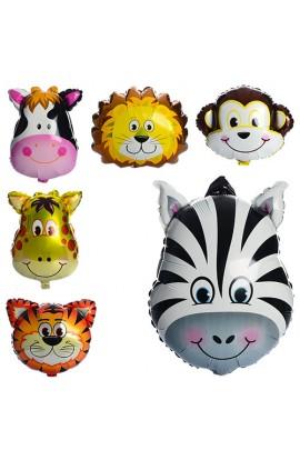 Кульки надувні фольговані MK 1332 тварини, 6 видів, 60-45 см.