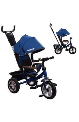 Велосипед M 3113A-11 3 гум. кол., колясочний, вільний хід колеса, гальмо, підшипники, темно-синій.