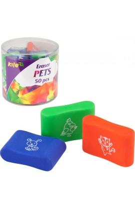 Гумка кольорова Pets, асорті