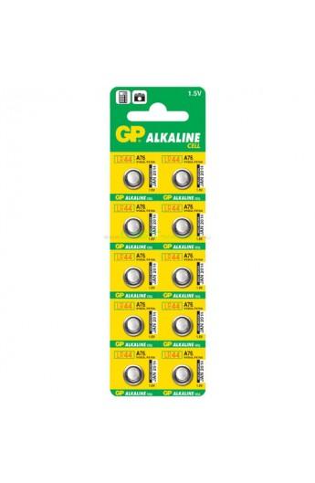 Батарейка GP дискова Alkaline button cell . 1.5V A76-U10 год. лужна AG13, LR44