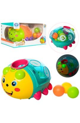 Жук 855-24A сортер, кульки 3 шт., їздить, 2 кольори, світло, муз., бат., кор., 26-17,5-14 см.