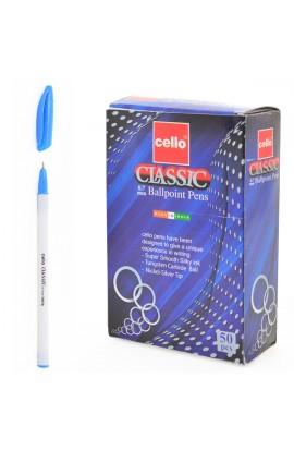 "Ручка шар/масл  ""Classic "" синяя 0,7 мм  ""CELLO """