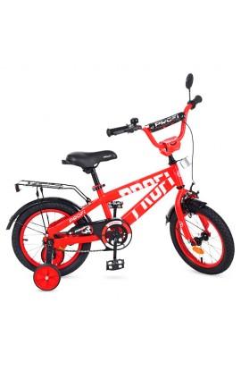 Велосипед дитячий PROF1 14 д. T14171 Flash, дзвінок, доп. колеса, червоний.
