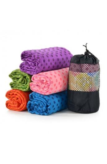 Мат для йоги MS 0617 тканина, силіконові вкраплення, 183-63 см, 6 кольорів, сумка, 24-14 см