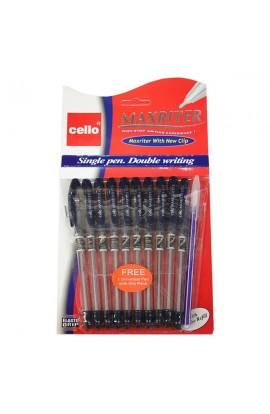 Ручка масляна, синя Maxrіter Cello, Імп