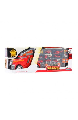 Трейлер LA-015B пожежна машина, транспорт 8 шт., дорожні знаки, кор., 55,5-11-18 см.