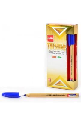 "Ручка шар/масл  ""Tri-Gold "" синяя 1 мм  ""CELLO """