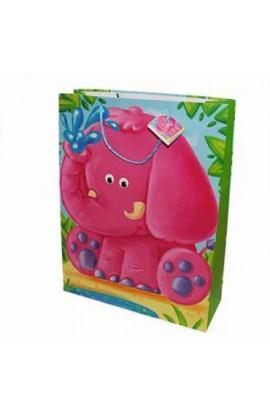 Пакет 32*26*10  Слоненя,тигреня,ведмежа