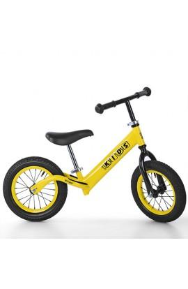 Беговел PROFI KIDS дитячий 12 д. M 3844A-2 гум.колеса, мет. обід, жовтий.