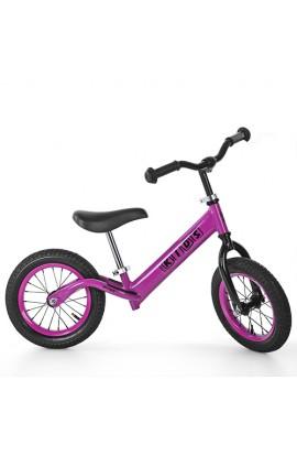 Беговел PROFI KIDS дитячий 12 д. M 3844A-3 гум.колеса, мет. обід, рожевий.