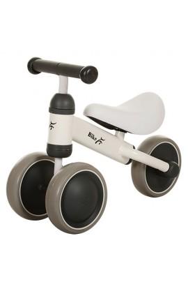 Беговел MT-01 колеса EVA, шкіряне сидіння, білий, 49-35,5-19,5 см.