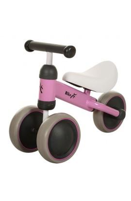 Беговел PROFI KIDS MT-03 дитячий колеса EVA, шкіряне сидіння, рожевий, 49-35,5-19,5 см.