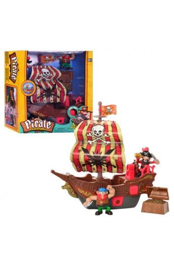 Корабель піратів 10754 муз., світло, скриня, фігурки 2 шт., бат., кор., 40-37-12,5 см