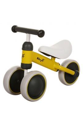 Беговел PROFI KIDS MT-02 дитячий колеса EVA, шкіряне сидіння, жовтий, 49-35,5-19,5 см.