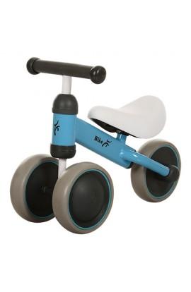 Беговел PROFI KIDS MT-04 дитячий колеса EVA, шкіряне сидіння, блакитний, 49-35,5-19,5 см.