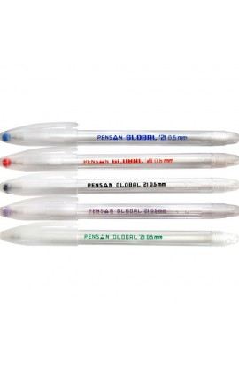 Ручка кулькова, чорна Global, Імп