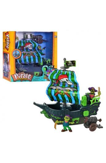 Корабель піратів 10755 муз., світло, фігурки 2 шт., бат., кор., 40-37-12,5 см