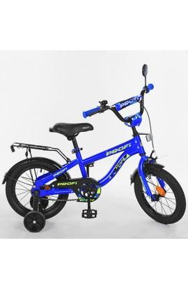 Велосипед дитячий PROF1 16д. T16151 синій, дзвінок, дод.колеса.