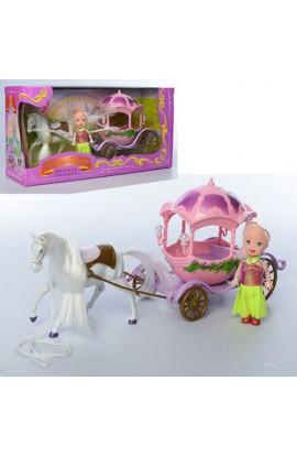 Карета R-3238A c конем, лялька, кор., 33-10,5-17 см.