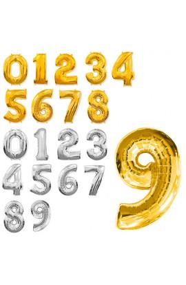 Кульки надувні фольговані MK 1346 16 дюймів, цифри (0-9), 2 кольори.