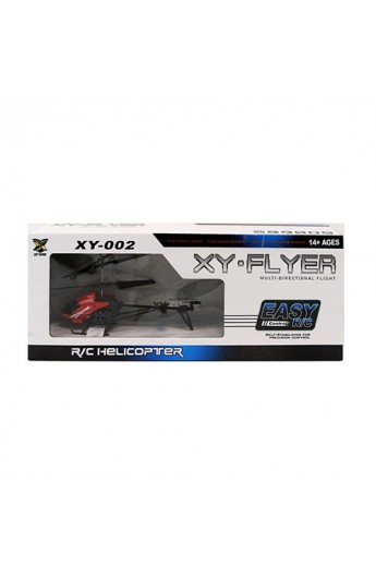 Гелікоптер XY-002 радіокер., акум., гіроскоп, USB, 3 кольори, світло, кор., 43,5-17-7 см.