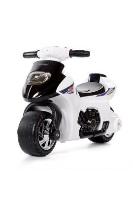 Толокар-мотоцикл 617-1 дитячий, муз., світло, бат., білий.