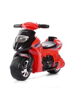 Толокар-мотоцикл 617-3 дитячий, муз., світло, бат., червоний.