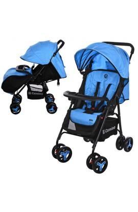Візок дитячий M 3443L-4 прогулянкова, книжка, колеса 4 шт., блакитний