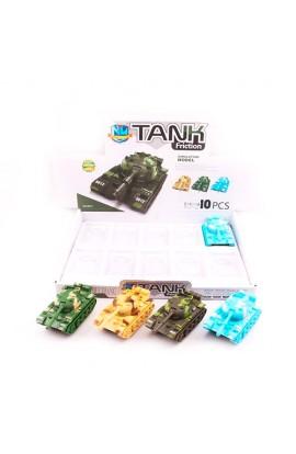 Танк 8812 інерц., рухлива вежа, 10 шт. (4 кольори) в диспл., 37-27-6 см.