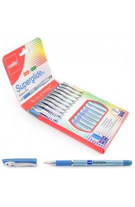 "Ручка шар/масл  ""Superglide "" синяя 1 мм  ""CELLO """
