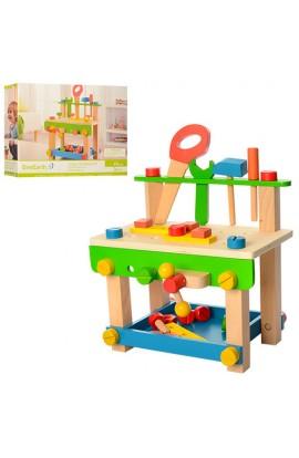 Дерев'яна іграшка Набір інструментів MD 1178 верстак, 44 дет., кор., 40,5-30-8 см.
